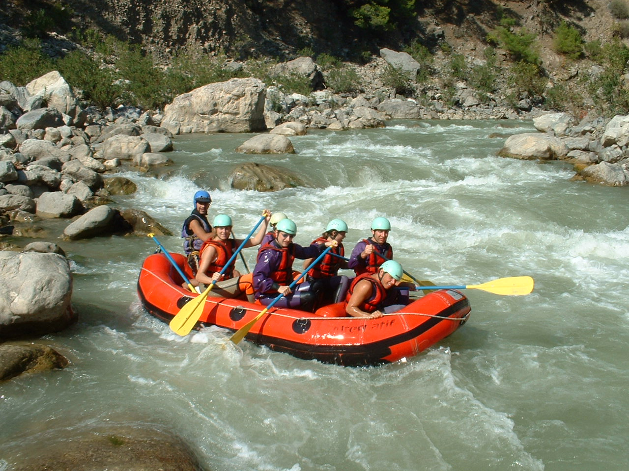 rafting adventure in dalaman from fethiye